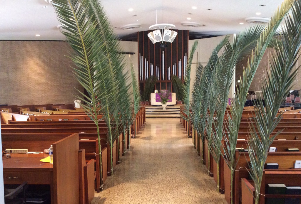 Getting ready for Palm Sunday Worship