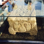 Top of reading desk Jesus probably used from Magdala