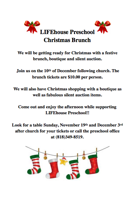 Preschool Christmas Brunch